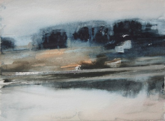 """""""Gryning II"""" akvarell 28 x 38 cm"""