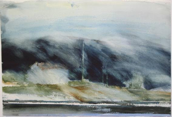 """""""Gränsland"""" akvarell 38 x 56 cm"""