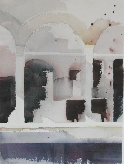 """Inre rum"" akvarell 28 x 38 cm"