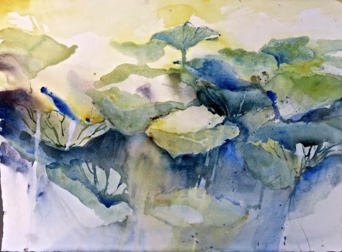 Passage i provence akvarell 56 x 76 cm
